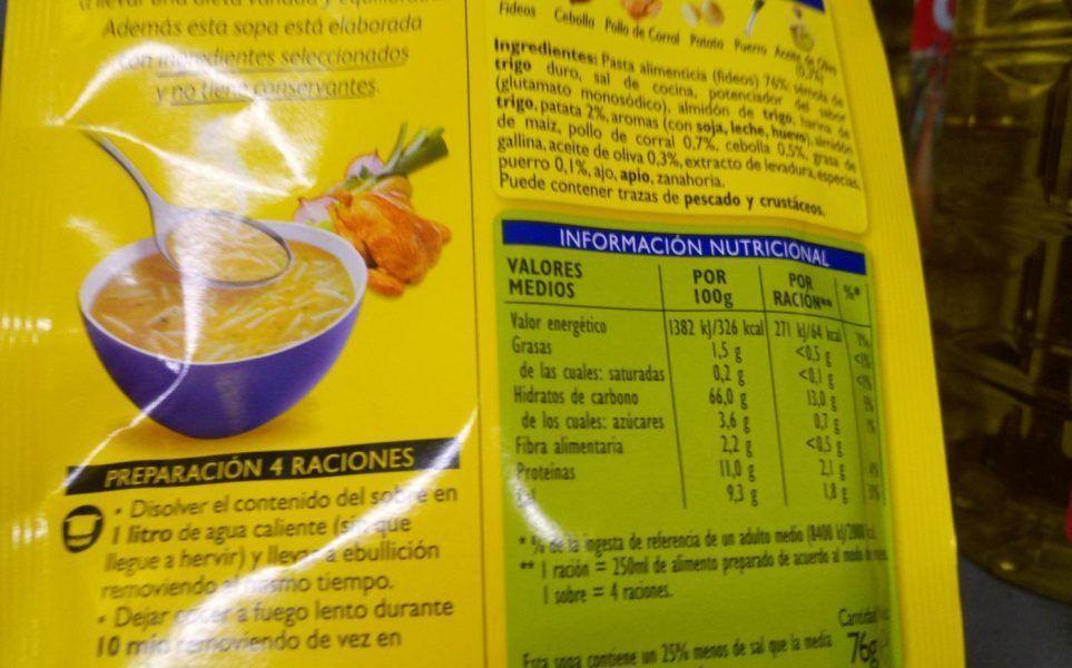 Aprende a interpretar las etiquetas de los alimentos