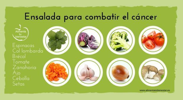 6 ensaladas  para tratar 6 enfermedades.