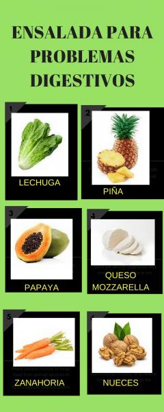 6 ensaladas  para tratar 6 enfermedades