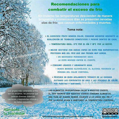recomendaciones para combatir el exceso de frio