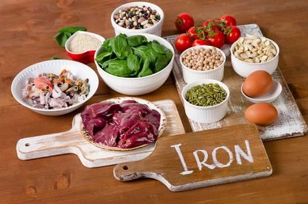 Las almejas ricas en hierro.